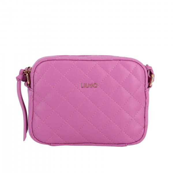 Liu Jo bag in quilted leather with metallic logo