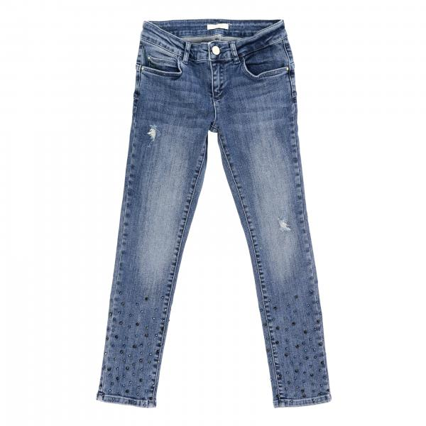 Liu Jo jeans in used denim with rhinestones