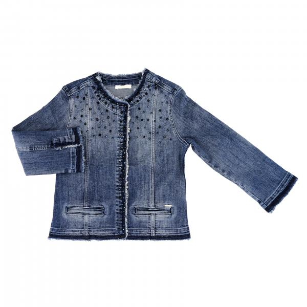 Liu Jo denim jacket in denim with rhinestones