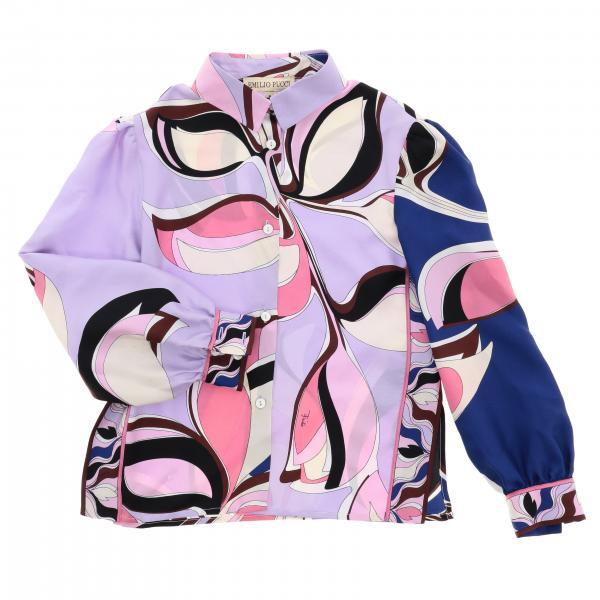 Рубашка с принтом Детское Emilio Pucci