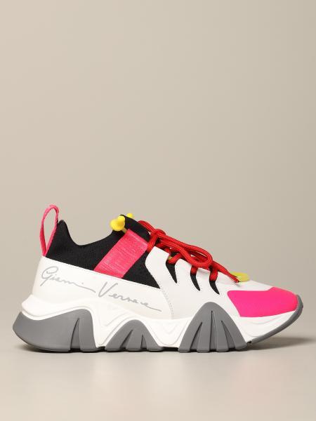 Versace Sneakers aus Neopren Leder und Mesh