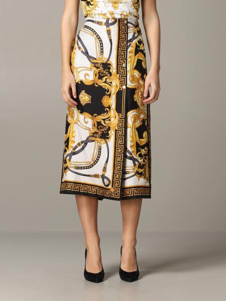 Versace 巴洛克印花半身裙