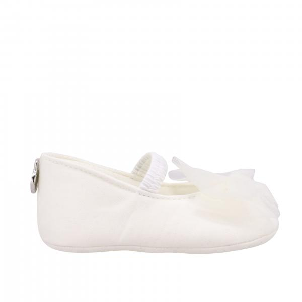Monnalisa Chic ballerina in canvas with tulle bow