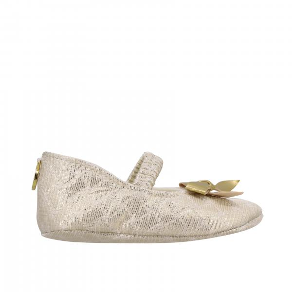 Monnalisa Chic ballet flat in lurex canvas with bow