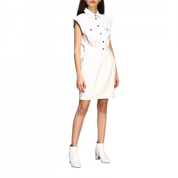 Pinko dress with sleeveless collar