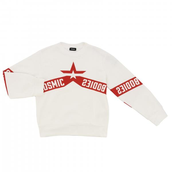 Diesel crew neck sweater with logo and star