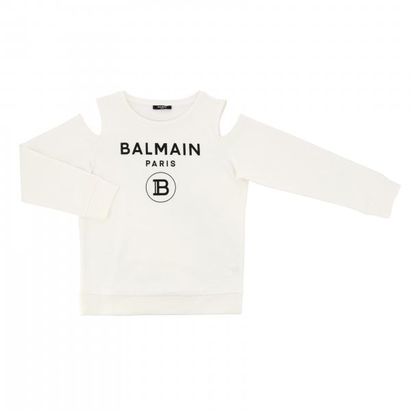 Balmain crew neck sweater with logo