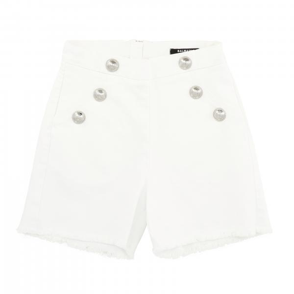 Balmain shorts with metal buttons and zip