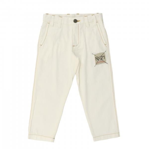 Jeans denim N°21 avec grand logo