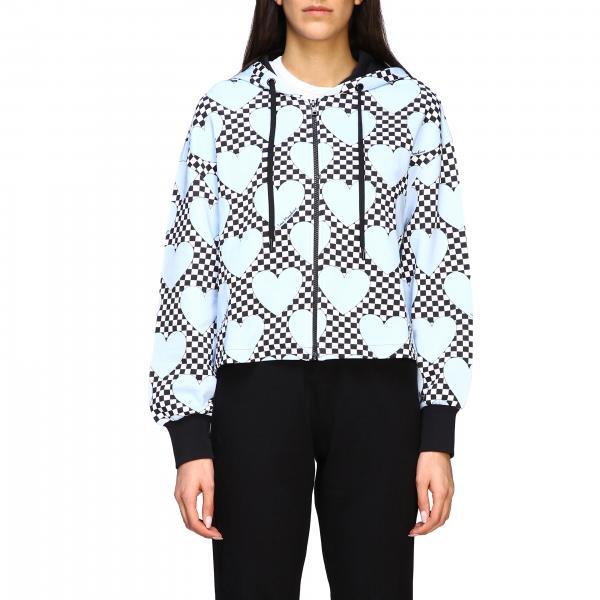 Love Moschino Sweatshirt mit Herzen