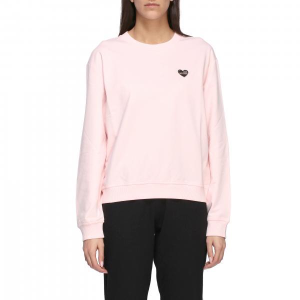 Love Moschino Crewneck Sweatshirt mit Herz