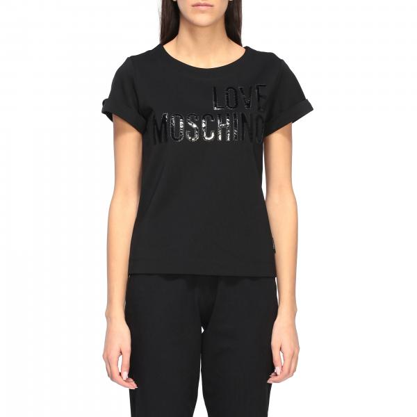 Love Moschino T-Shirt mit Logo-Print