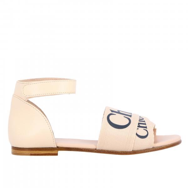 Sandalo Chloé a tre fasce con logo