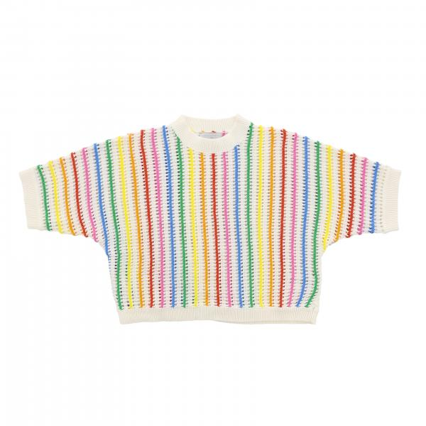 Stella Mccartney crew neck sweater with multicolor stripes