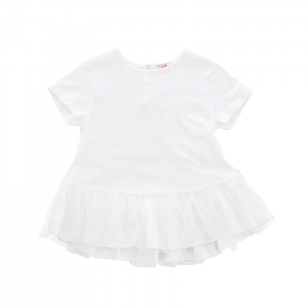 Il Gufo short-sleeved T-shirt with flounce hem