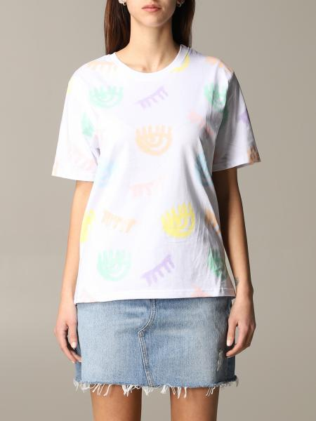T-shirt Chiara Ferragni a maniche corte con logo eyes