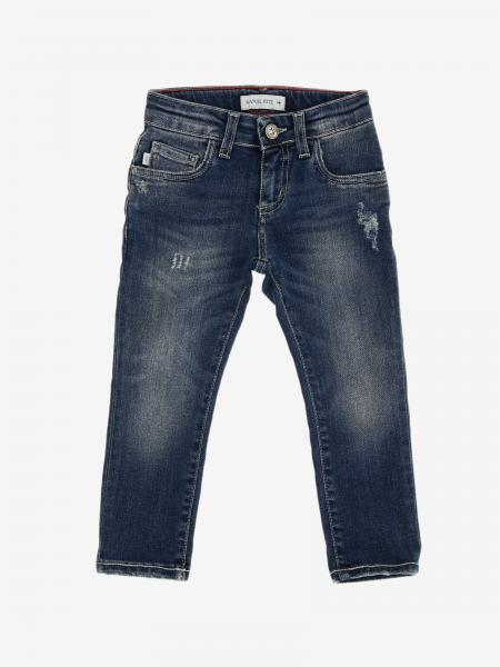 Jeans Manuel Ritz in denim used con rotture