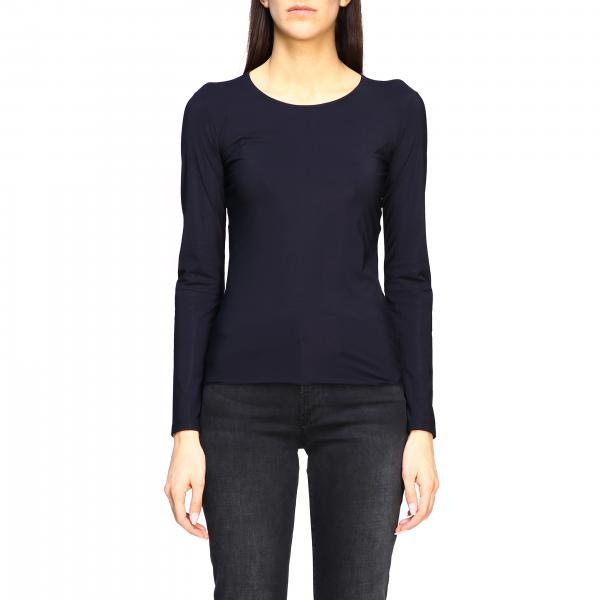 T-shirt Jil Sander basic a maniche lunghe