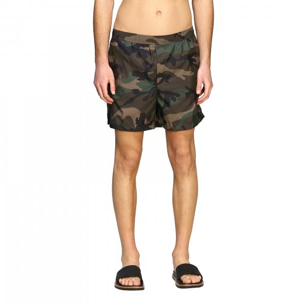 Valentino boxer swimsuit with camouflage print