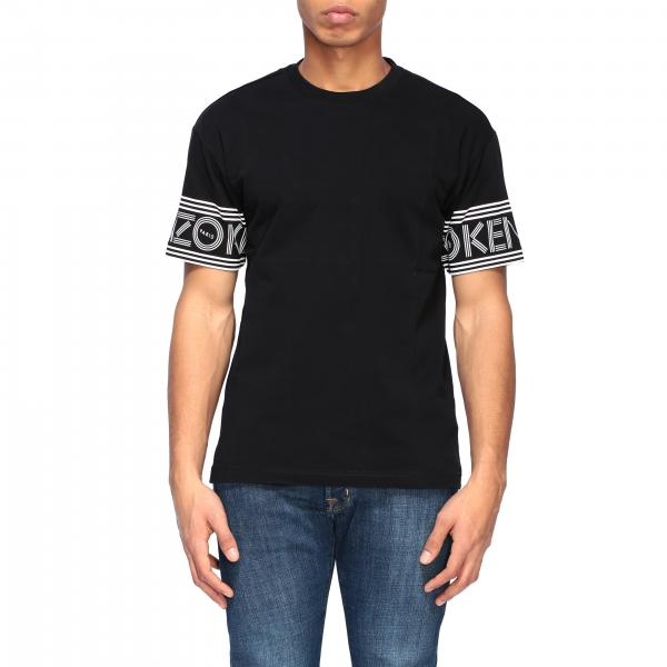 Kenzo crew-neck t-shirt with logoed bands