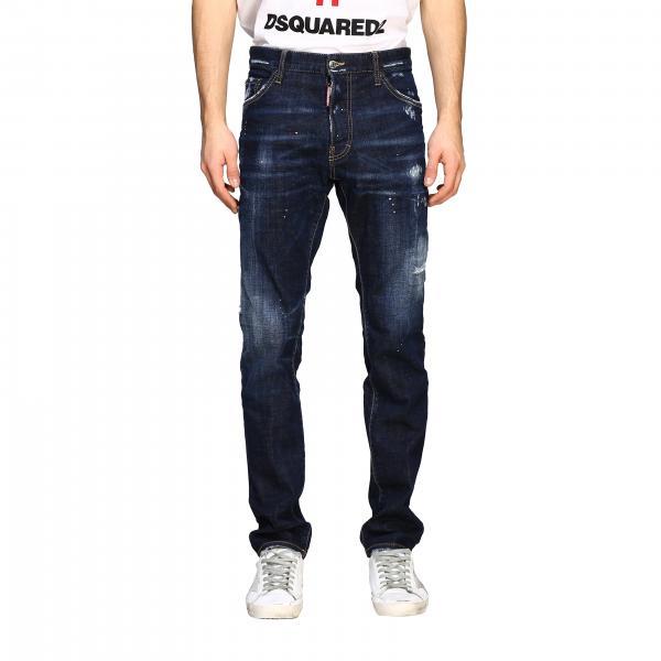 Jeans Dsquared2 in denim effetto consumato con rotture