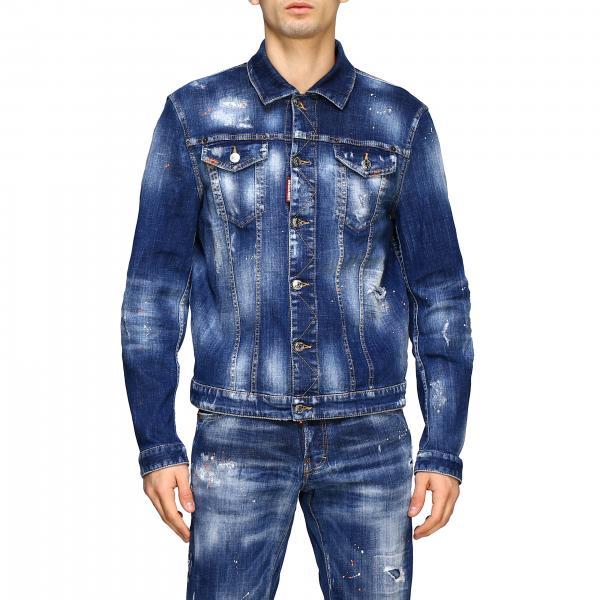 Giacca di jeans Dsquared2 in denim used