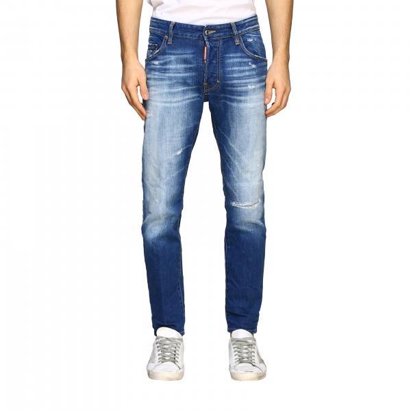 Jeans Dsquared2 in denim delavé effetto consumato