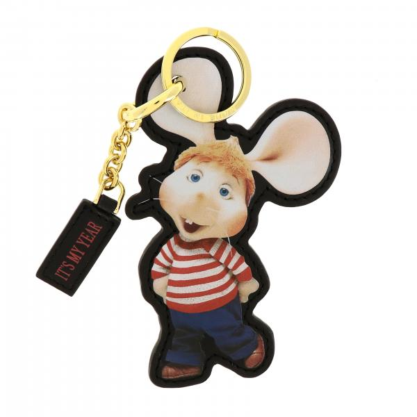 Alberta Ferretti keychain in leather in the shape of Topo Gigio