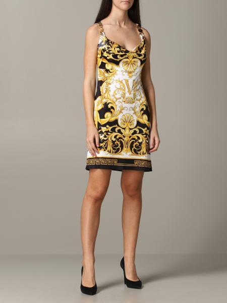 Versace 巴洛克印花连衣裙