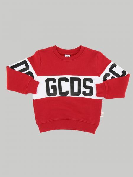 Gcds Rundhalspullover mit Maxi Streifen und Logo