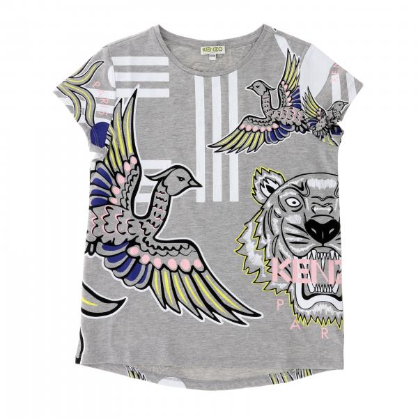 Kenzo Junior short-sleeved T-shirt with all-over Kenzo Paris logo