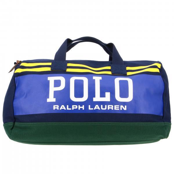 Borsone Polo Ralph Lauren in tela con big logo