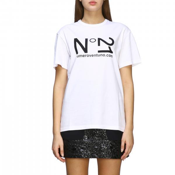 T-shirt N° 21 a maniche corte con stampa logo