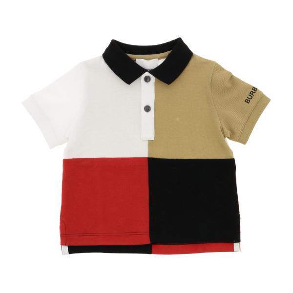 Polo Burberry Infant à manches courtes avec motif grands carrés