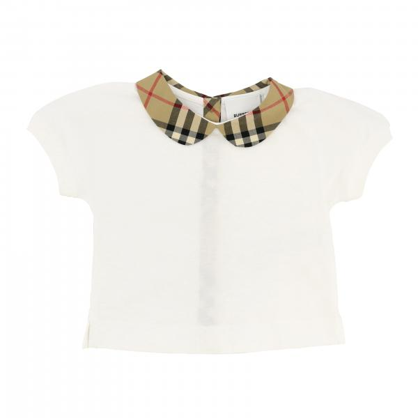 Polo Burberry Infant con collo check