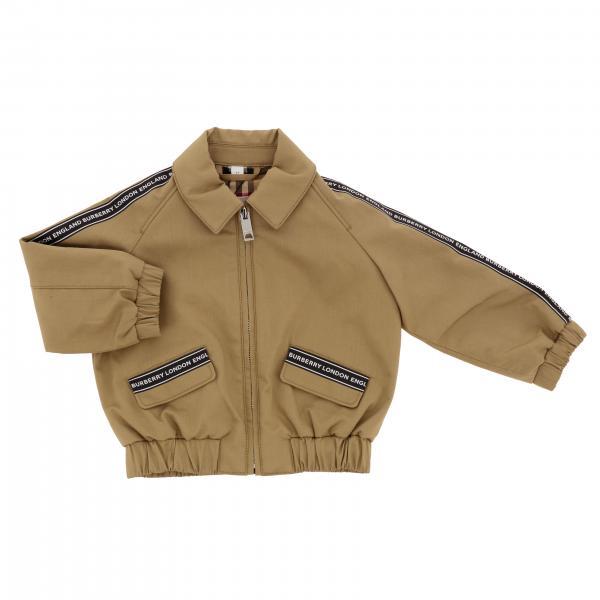 Burberry Infant Jacke mit Logo Streifen