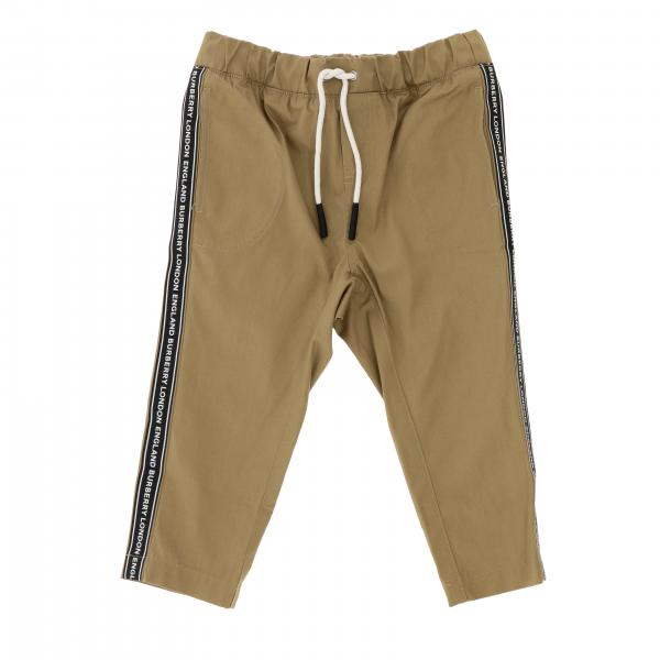 Burberry Infant jogging trousers with logoed bands