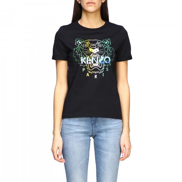 Kenzo short-sleeved T-shirt with Tiger Kenzo Paris logo