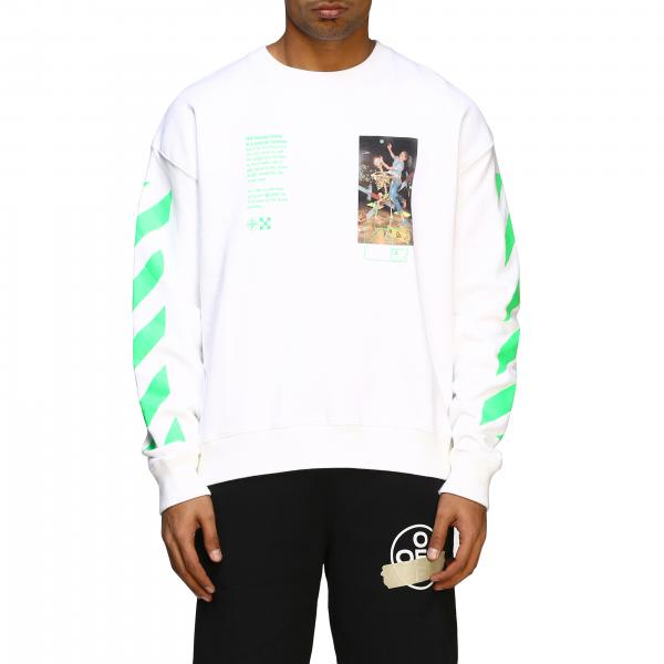 Off White sweatshirt with print and logo