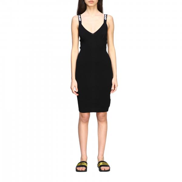 Off White dress with logoed straps