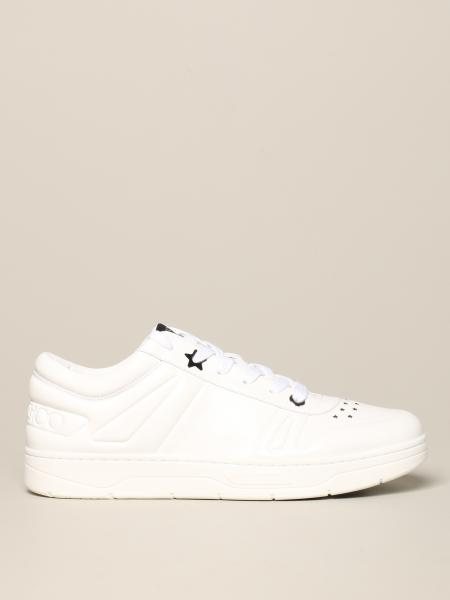 Jimmy Choo leather sneakers with carved stars