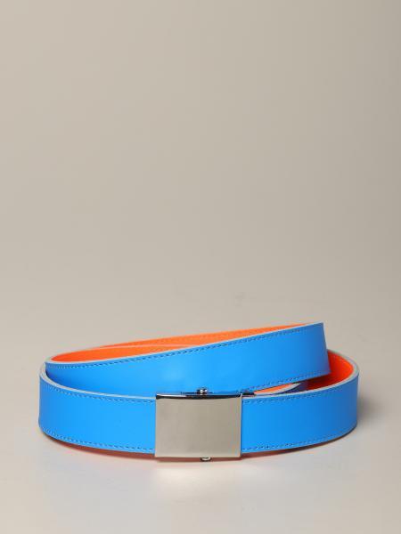 Comme Des Garcons belt in reversible fluorescent leather