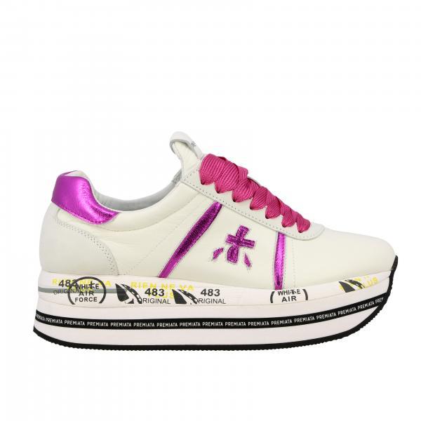 Sneakers Beth Premiata in pelle liscia e laminata