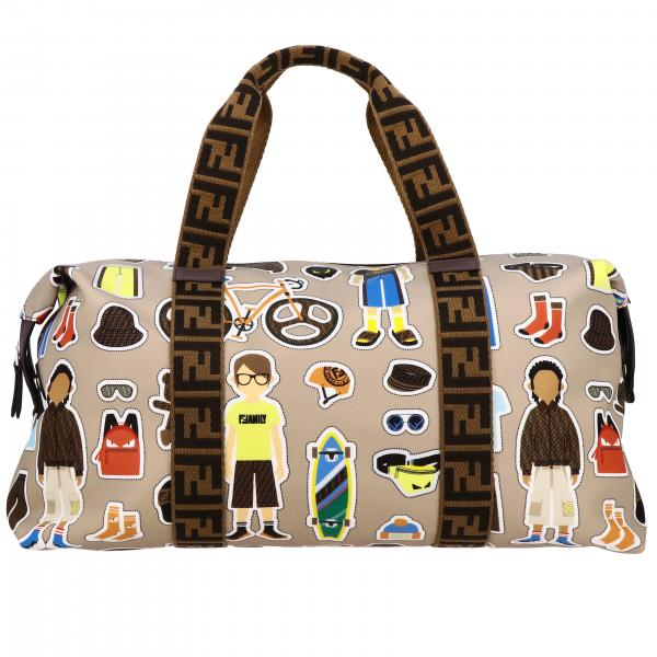 Fendi bag in printed canvas with FF finishes