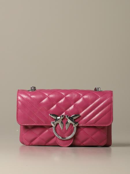 Love mini soft mix Pinko bag in vintage quilted leather