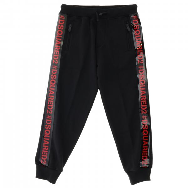 Dsquared2 Junior jogging trousers with logoed bands