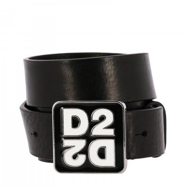 Cintura Dsquared2 in pelle con big fibbia D2