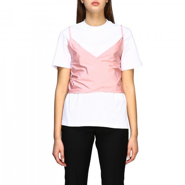 T-shirt Msgm a maniche corte con top a triangolo