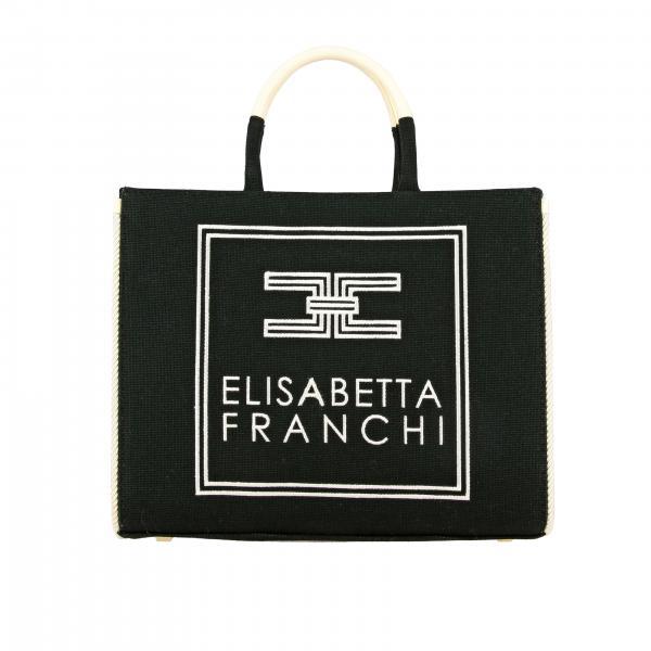 Elisabetta Franchi Handtasche aus Canvas mit gesticktem Logo