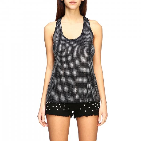 Top Pinko con strass all over